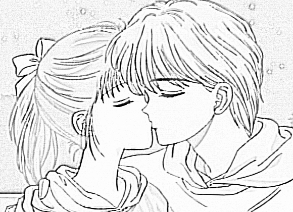 cute anime couples kissing coloring pages anime coloring pages