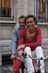 Johan Museeuw en Gella Vandecaveye tijdens de voorstelling van West-Vlaanderens Mooiste
