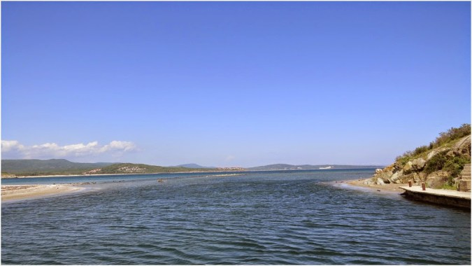 Where the Ropotamo River reaches the Black Sea