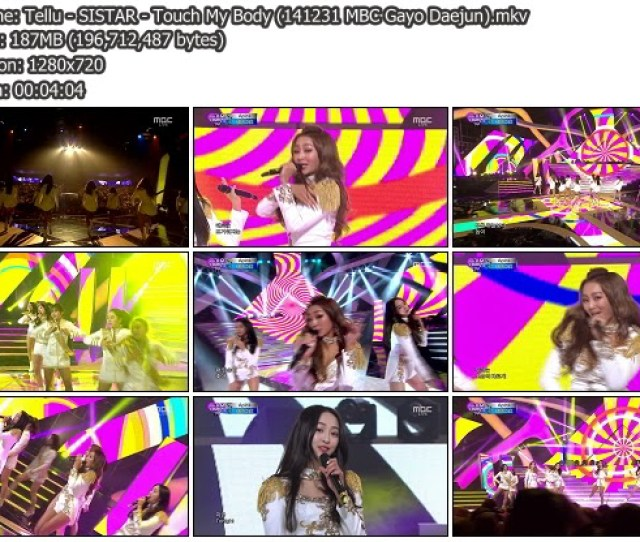 Download Music Video File Perf Sistar Touch My Body Mbc Gayo Daejun  Mib Hosted Mf Mega