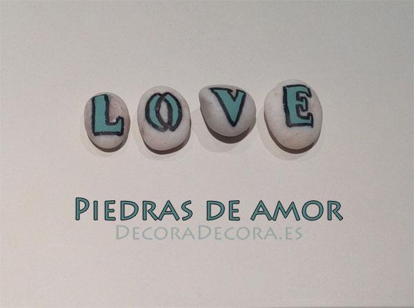Pintar piedras para decorar en San Valentín