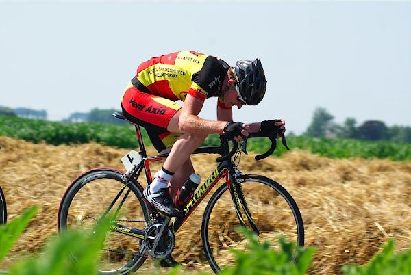 Joeri Calleeuw tijdens de Grote Ommegangprijs wielrennen Beveren-Roeselare 2012