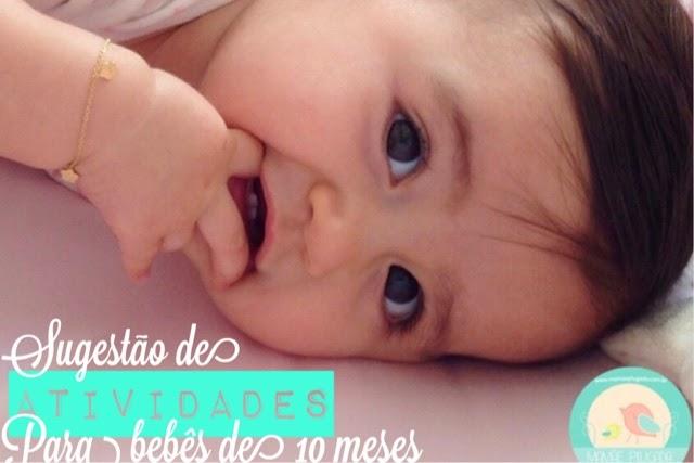 Sugestão de atividades para bebês de 10 meses