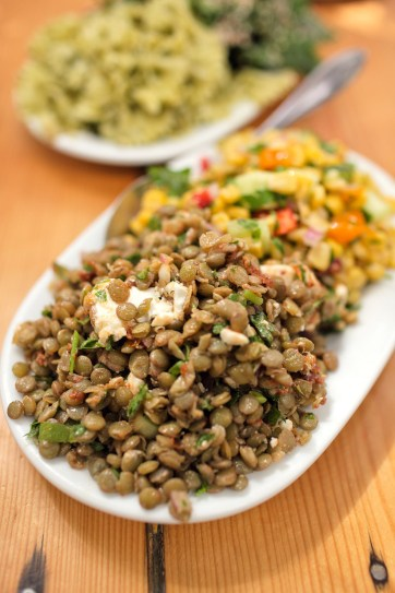 Lentil Salad - Kikis Restaurant Mykonos.