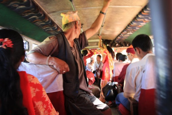 inside a Nepalese bus