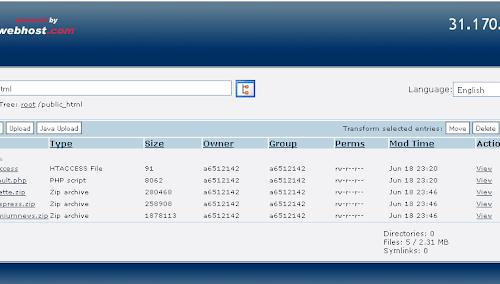File manager upload File di Free Hosting 000webhost