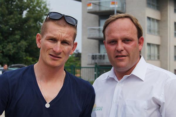 André Greipel en Bjorn Gevaert
