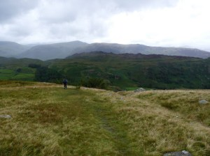 Descending to Watendlath from High Tove