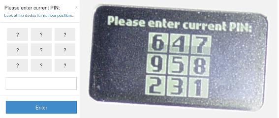 Trezor PIN Input
