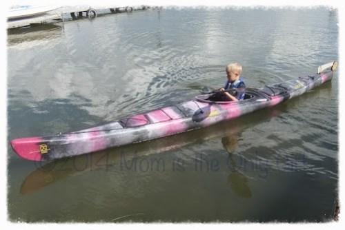 my boy kayaking at http://www.momistheonlygirl.com