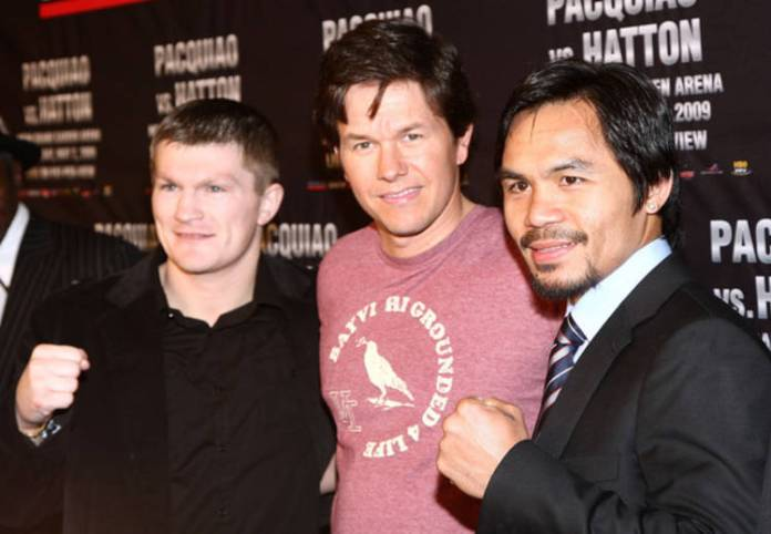 Mark Wahlberg, Pacquiao y Hatton