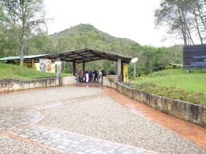 Entrada a la Laguna de Guatavita
