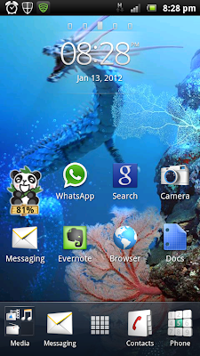 Sony Ericsson Live Wallpaper of Dancing Dragon