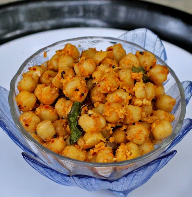 Chickpea Sundal Recipe | Indian Garbanzo Bean (Chole) Salad