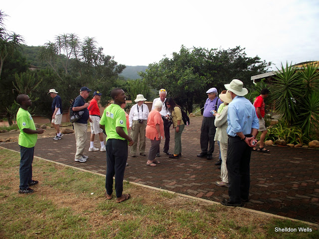 Our local guide jeffery introducing local visitors to Isithumba