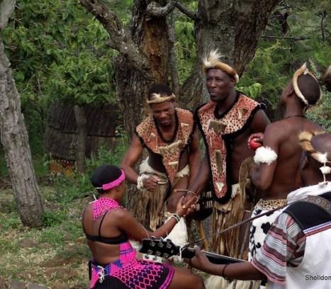 zulu warriors court a Zulu maiden