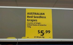 Reading the fine print at Aldi. Images of Canberra | The RiotACT