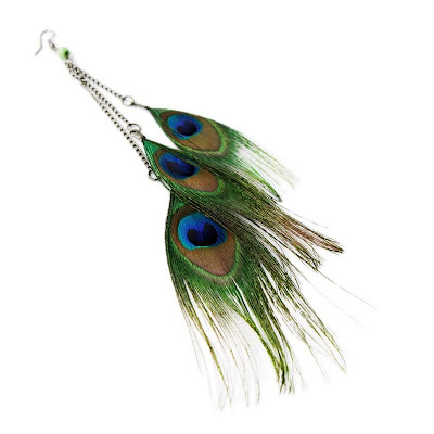 Mad Lady Shop   Peacock Earrings