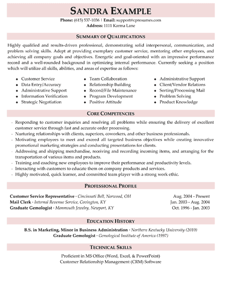 Customer Service Manager Resume Objective. For Candidate Jobseeker