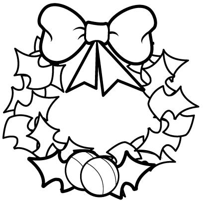 christmas wreath coloring pages coloring pages
