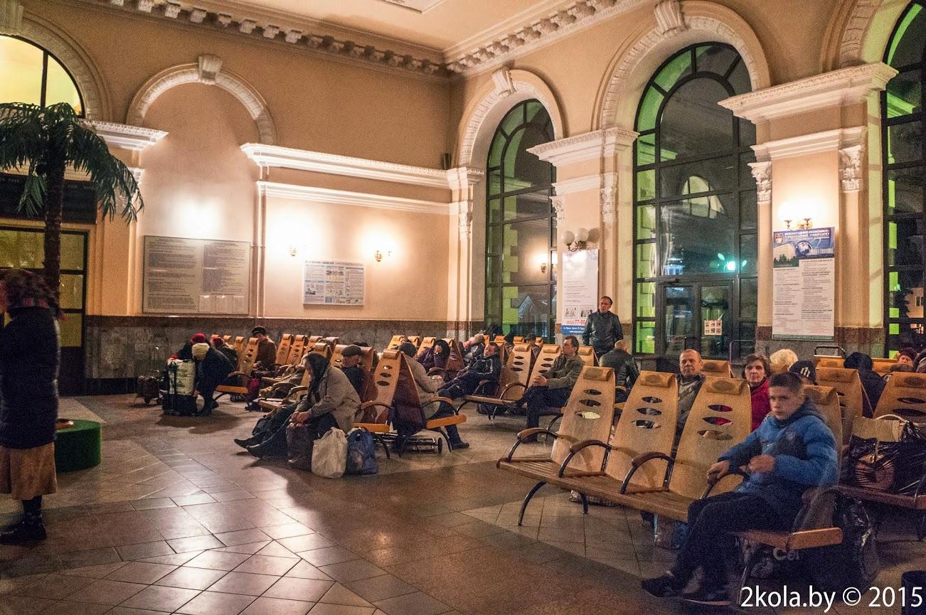 Зал ожидание жд вокзала г Ковеляв 1-00