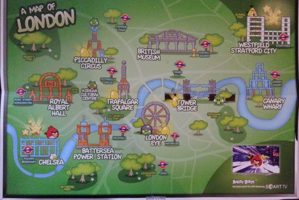 Samsung Angry Birds All Star Final - Map of London