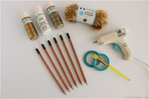 Idea para decorar lápices
