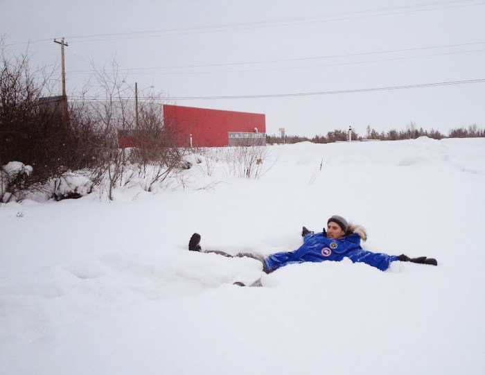 So much snow in Yellowknife