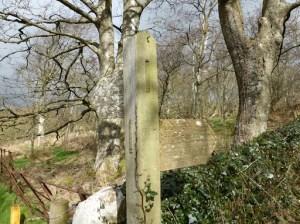 Muncaster Fell via Fell Lane sign