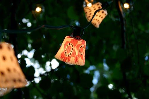 decorativas pantallas de luz con moldes de magdalenas