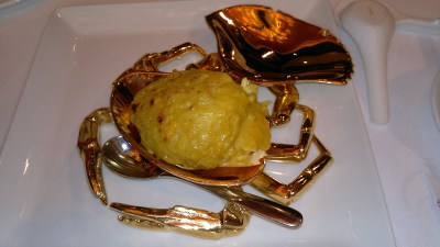 Fried-rice with Tasmanian  Crabmeat stuffed in whole Crab Shell