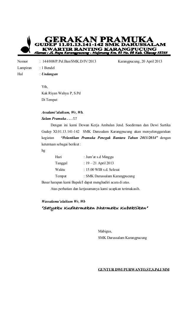 Contoh Surat Resmi Pramuka Surat 10