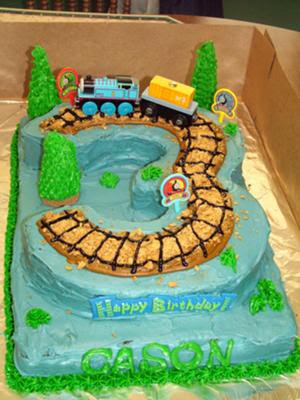 Coolest Thomas Tank Engine Cake Birthday Party Ideas