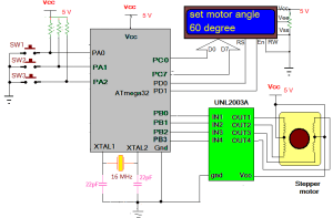 Engineering projects: Stepper Motor Angle Control using