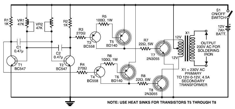 2000w 12v Simple Inverter Circuit Diagram