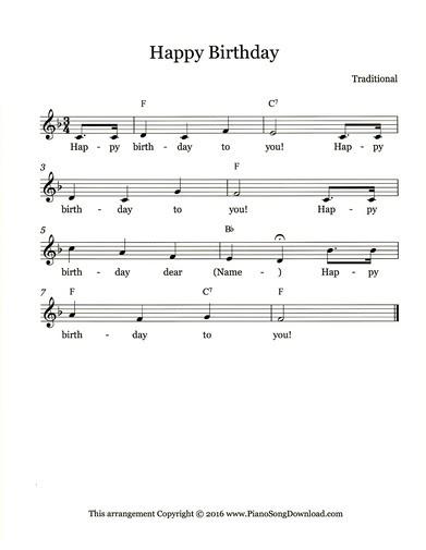 Happy Birthday Piano Sheet Music Advanced Epic Sheet Music