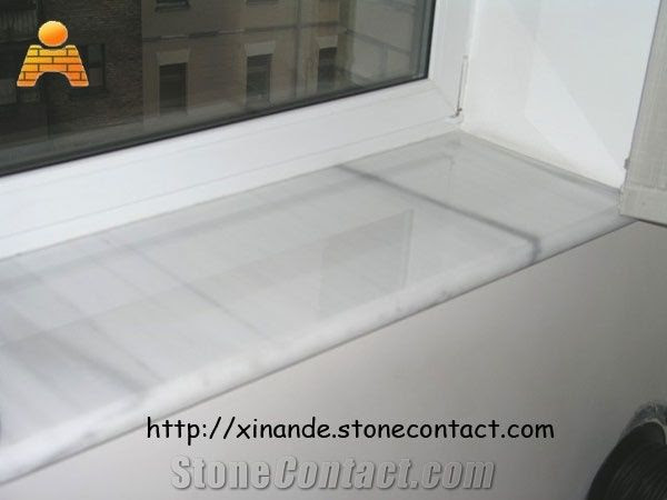 white marble window sill