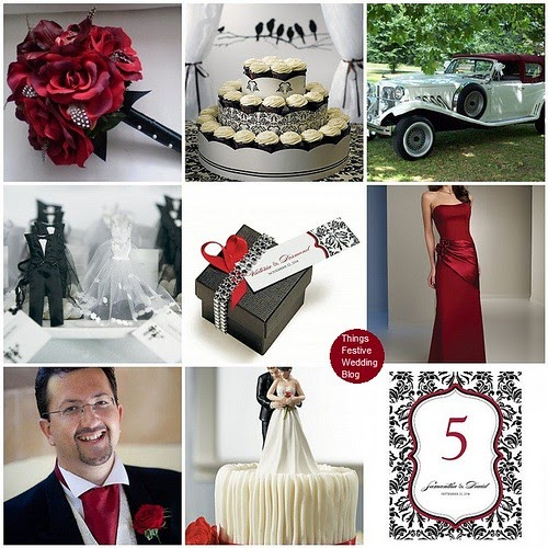 Valentines Day Wedding Theme In Ruby Amp Damask Things