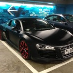 Audi R8 Matte Black With Blue Details Supercars Gallery