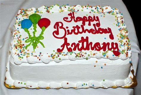 Happy Birthday Anthony Cake