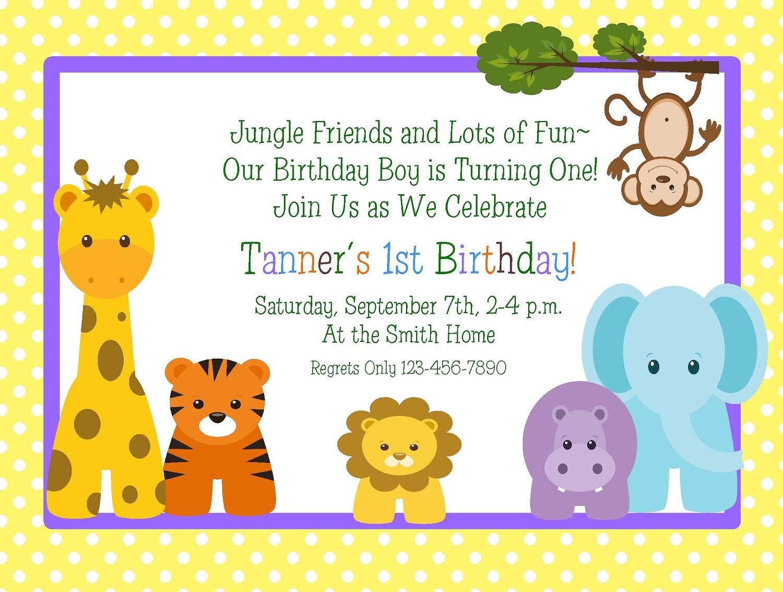 blank 1st birthday invitation template