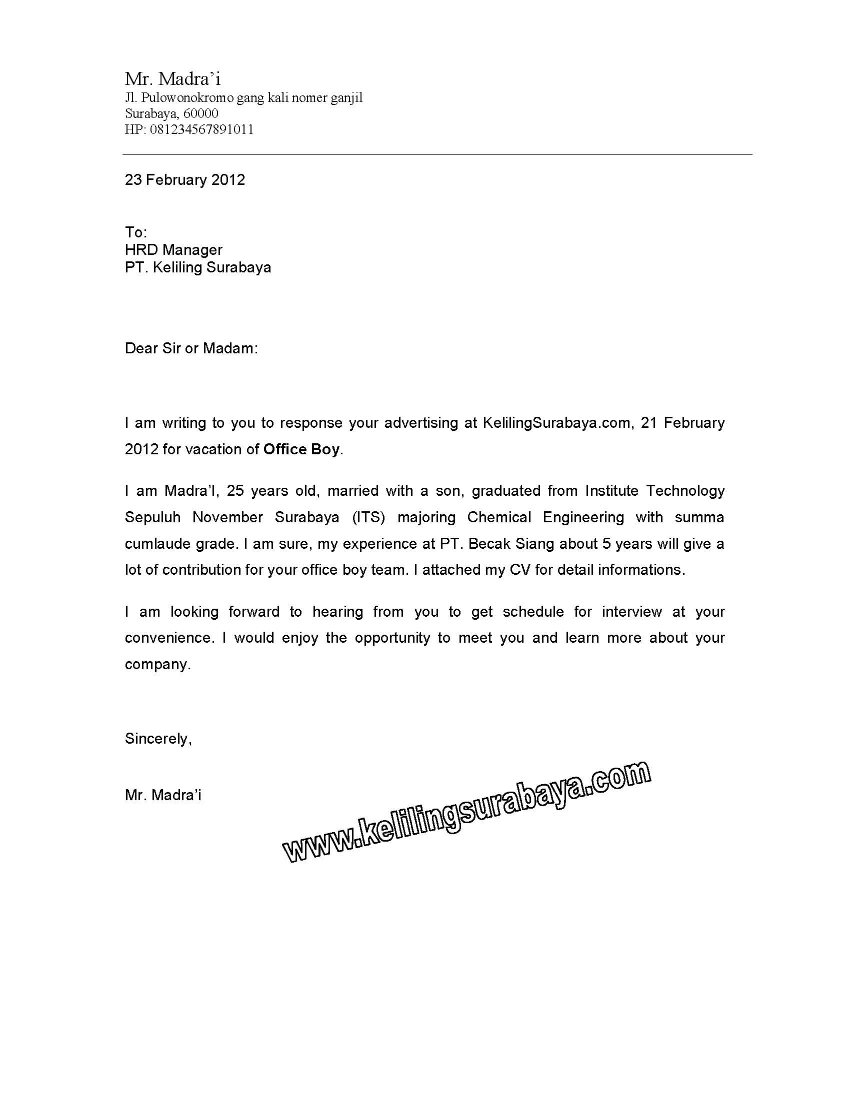 19 Contoh Surat Balasan Lamaran Pekerjaan Menggunakan Bahasa Inggris
