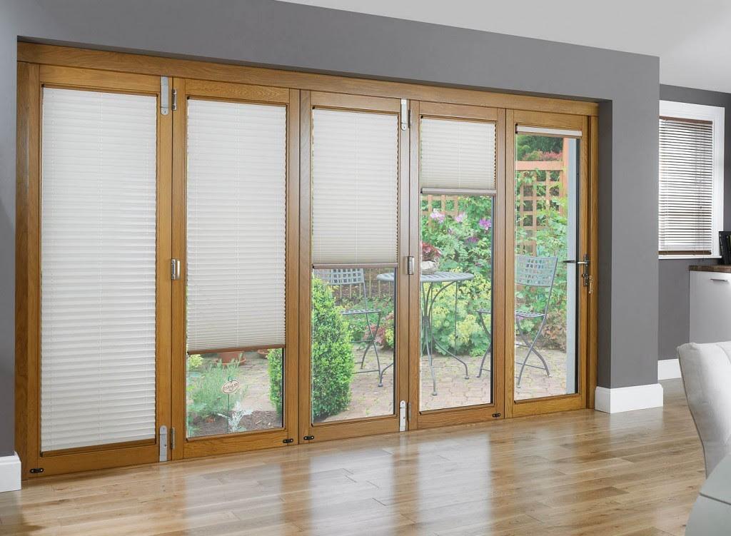 how to fix blinds inside glass door