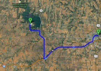 directions to Foss Lake SP