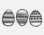 My Someday in May - Aztec Easter Egg Free Printable