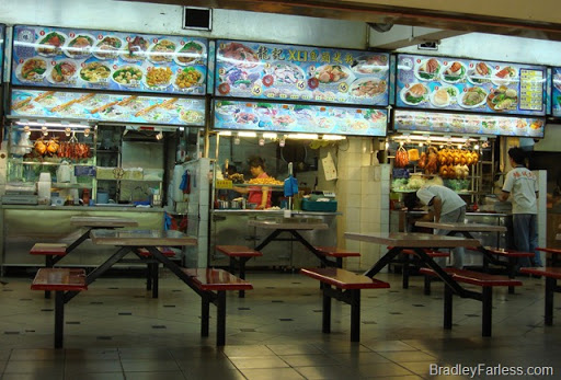 A hawker center in Tampines, Singapore.