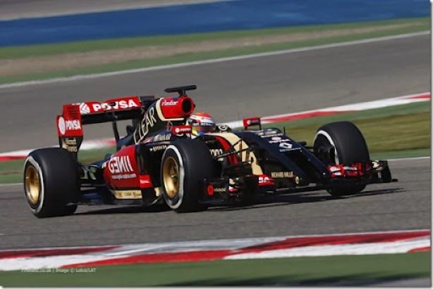 2014 F1 Pre Season Test 2 - Day 3Bahrain International Circuit, Bahrain.Friday 21 February 2014.Pastor Maldonado, Lotus E22 Renault.World Copyright: Andrew Ferraro/LAT Photographic.ref: Digital Image _79P2118