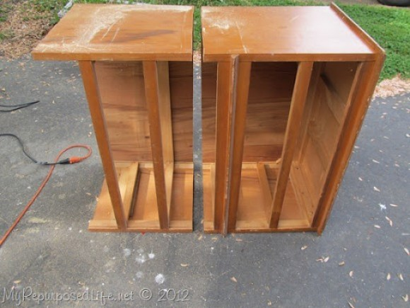 Chest of Drawers into Bench (24)