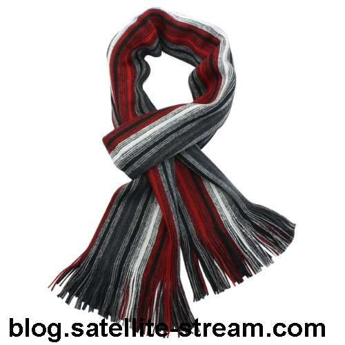 acrylic men's knitted scarf