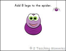 Play Dough Mats- Spider